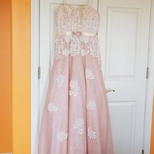 Prom Dress with stoned bodice.